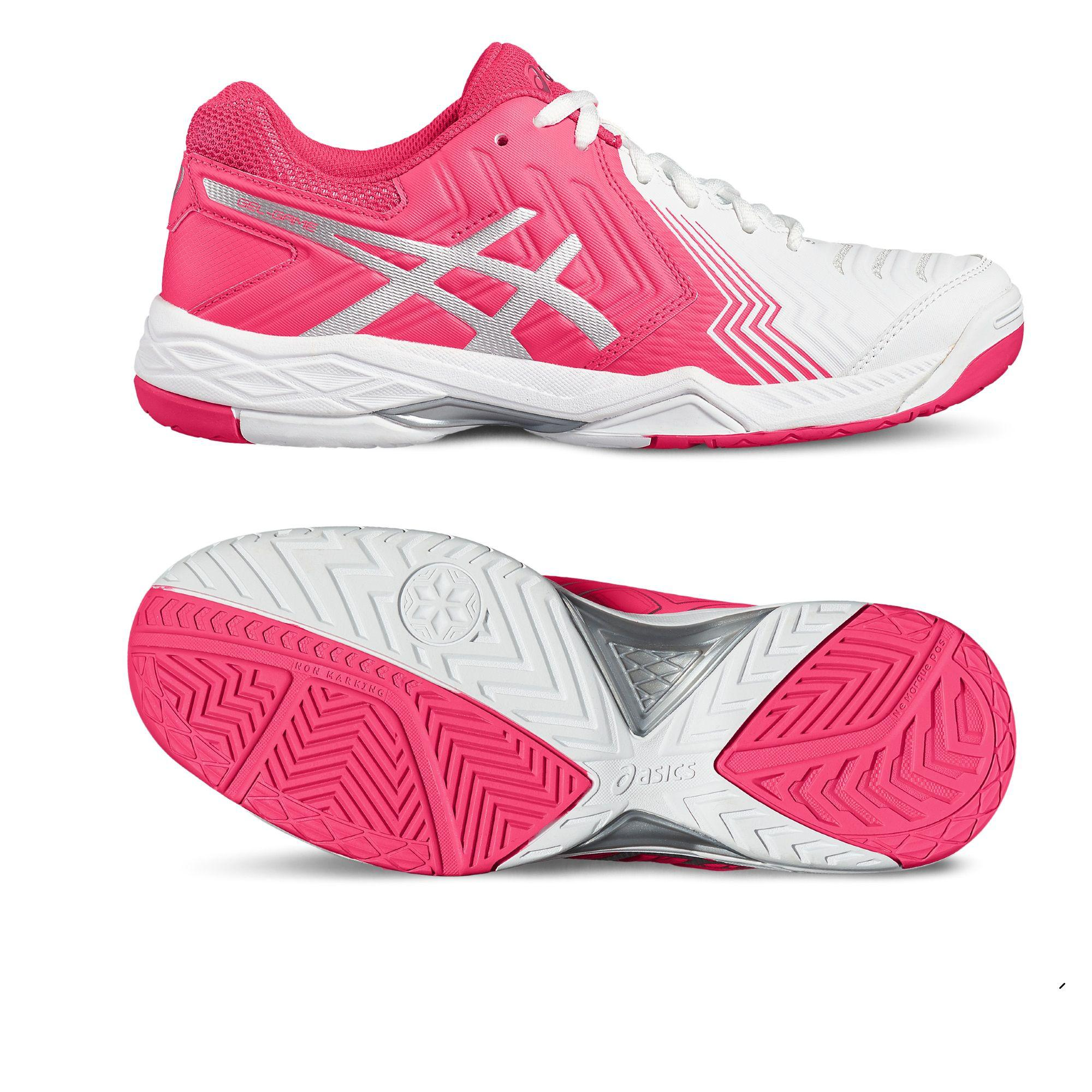 Asics Gel Game 6 Womens Tennis Shoe, White/Silver, E755Y 0193