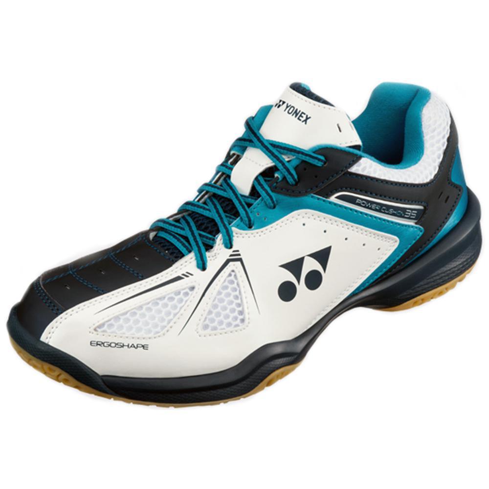 Yonex Shb  White Blue Power Cushion Badminton Shoes Blue
