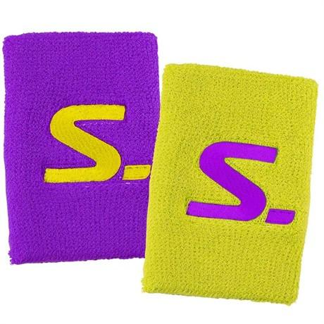 Salming Wristband Short 2 Pack - Purple Yellow