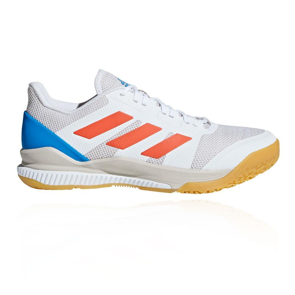 9d553cc45 Adidas Stabil Bounce Court Shoes - White - Just Rackets