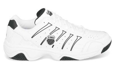 K-Swiss Mens Grancourt II Tennis Shoes- White Black - Just Rackets a1f582da9fe2